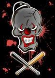 Dead evil clown Stock Photography