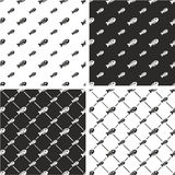 Dead Fish Big & Small Seamless Pattern Set Stock Image
