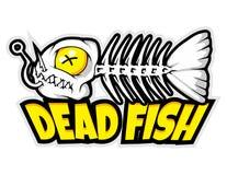 Dead fish bones cartoon mascot in  illustration. Animal cartoon mascot in  illustration Royalty Free Stock Photography