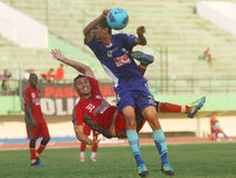 Dead footballer - diego mendieta Stock Image