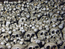 Dead heads. Skeletons of Kutna Hora Royalty Free Stock Photo