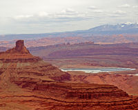 Dead horse point distant view Royalty Free Stock Photography
