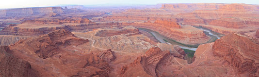 Dead Horse Point Pre-Dawn Panorama Royalty Free Stock Photography
