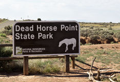 Dead Horse Point State Park sign Stock Photos