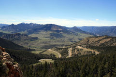 Dead Indian Pass view between Cody and Yellowstone National Park in Wyoming Royalty Free Stock Images
