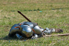 Dead knight. Death knight on historical battle Stock Images