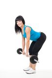 Dead lift exercise Stock Photo