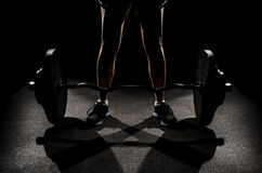 Dead lift set Stock Image