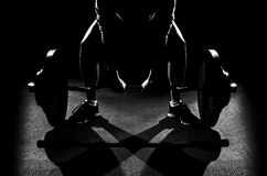 Dead lift set Royalty Free Stock Images