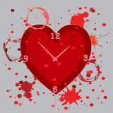Dead line Hour with blood clot art Stock Image