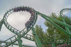 Dead loop. Attractions in Gardaland - it's dangerous, interesting and extreme Stock Photos