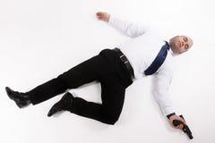 Dead man stock photo