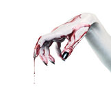 Dead Man's hand with blood Royalty Free Stock Image