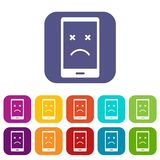 Dead phone icons set flat Royalty Free Stock Photo