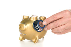 Dead piggy bank Stock Photo