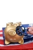 Dead piggy bank Royalty Free Stock Image