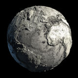 Dead Planet Earth. Without water - the global ecological catastrophe, a fantastic assumption of the future Stock Photo