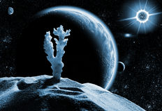 Dead planet in space Royalty Free Stock Images