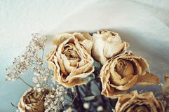 Dead Roses Bouquet Royalty Free Stock Photos