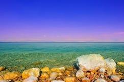 Dead Sea. Salt On The Rocks In Dead Sea, Israel. Sunrise Royalty Free Stock Photo