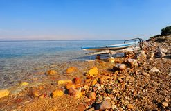 Dead Sea. Salt Glazed Board For Windsurfing On The Beach Of Dead Sea Royalty Free Stock Images
