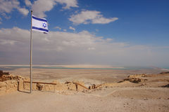 Dead Sea. View of Dead Sea from Masada fortress - Israel Stock Images