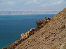 Dead sea. View from the dead sea on jordan's border Royalty Free Stock Photos