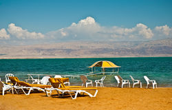 Dead Sea . Beach on the shores of the Dead Sea Royalty Free Stock Photography