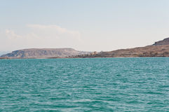 Dead Sea . View on Dead Sea coastline and Arava Desert in Israel Royalty Free Stock Photo