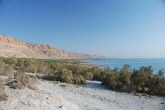 The Dead Sea. Between Israel and Jordan, is the lowest point on earth and the source of natural skincare remedies Stock Image