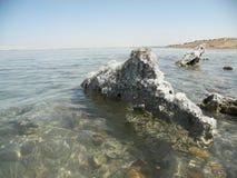 Dead Sea. Saline soils of the Dead Sea Royalty Free Stock Photo