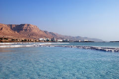 Dead sea. Kind from outside the seas on coast and hotels Royalty Free Stock Image