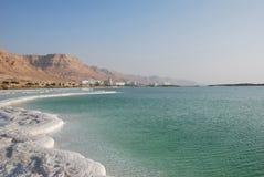 Dead Sea. Mineral salts on coast of the Dead Sea Stock Images