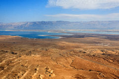 Dead Sea from above Royalty Free Stock Image