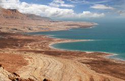 Dead Sea and Arava Desert in Israel. Aerial view on famous Dead Sea and Arava desert in Israel Royalty Free Stock Photography