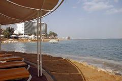 Dead Sea Beach. Near the hotels.Ein Bokek,Israel Stock Photography