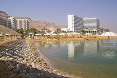 Dead Sea Beach .Ein Bokek,Israel Stock Photography
