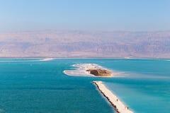 Dead Sea beach island. Royalty Free Stock Image