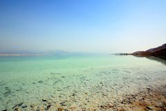 Dead sea. Beach of the Dead Sea. Israel Stock Images