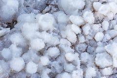Dead Sea beach salt lump close-up macro. Stock Image