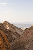 Dead sea cliffs Royalty Free Stock Photos
