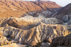 Dead sea cliffs Royalty Free Stock Images