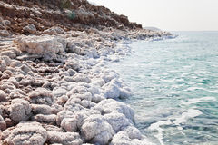 Dead sea coast at jordan Stock Photos