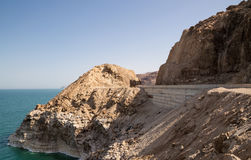 Dead sea coast at Jordan, Middle East Royalty Free Stock Photo
