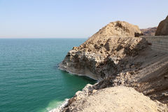 Dead sea coast at Jordan, Middle East Stock Photos