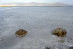 Dead sea coast at sunset. Royalty Free Stock Images