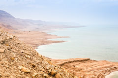 Dead sea coast at twilight, Israel Royalty Free Stock Photography