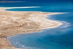 Dead Sea coastline. Aerial view of Dead Sea coastline Royalty Free Stock Photos