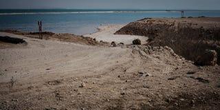 Dead Sea coastline Stock Photography