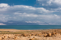 Dead Sea in the desert Royalty Free Stock Photo